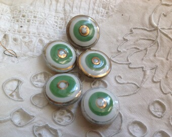 button out of porcelain, 19mm diameter, vintage, sold individually