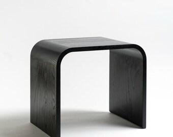 Sidetable ash black, solid