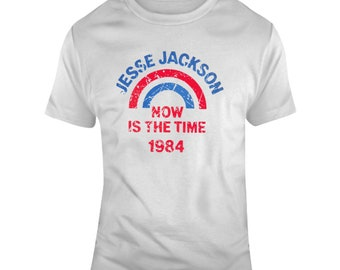 Retro Presidential Campaign Now Is The Time Jesse Jaackson 1984 Distressed T Shirt