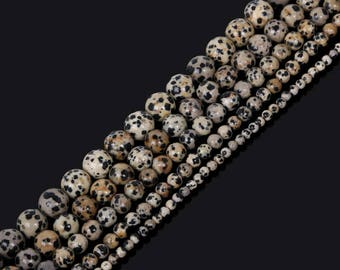 Natural Dalmatian Dot Stone Beads, Loose Beads, For Jewelry Making Necklace Bracelet DIY 4/6/8/10/12mm