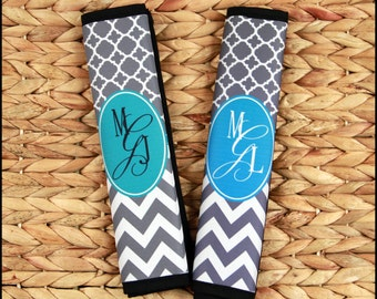Gift Ideas for Her, Monogrammed Seat Belt Cover, Personalized Monogram Gifts, Cute Car Accessories for Women, Seatbelt Cover Seat Belt Pad
