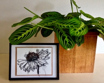 Art Cards---Stitched Sunflower