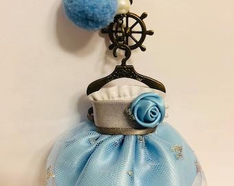 Vintage Elegant Cute Hand-Made Dress Keychain