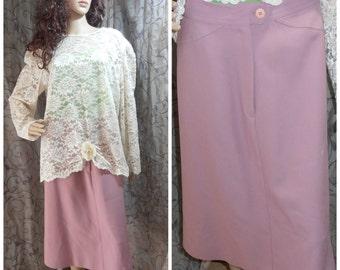 Vintage Skirt, Pink Skirt, 70s Skirt, Maxi Skirt, Pink Maxi Skirt, Madman Skirt, Vintage Pink Skirt, Long Pink Skirt, Epsteam
