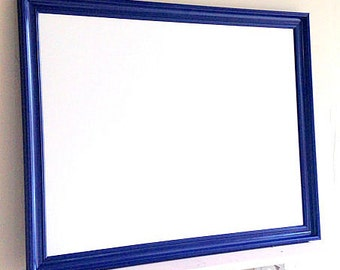 Modern DRY ERASE BOARD for Sale Navy Blue Framed Home Office Whiteboard Large Magnetic Bulletin Board Boys Room Decor Dorm Room Organizer