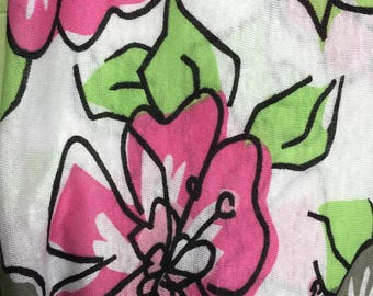 Pink Flower Scarf, Infinity Scarf, Floral Scarf, Hippie Scarf, Unique Scarf, Green Scarf, Woman Gift, Cowl, Infinity Scarves, Garden Scarf