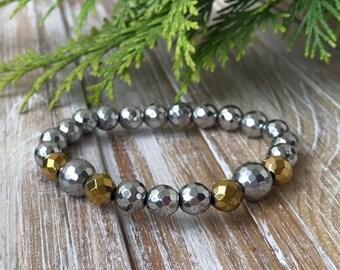 Bracelet made of hematite