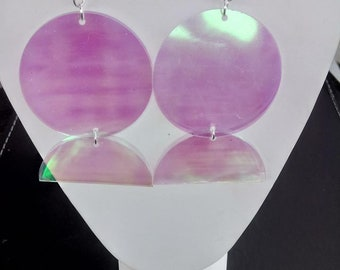 Oversize Sequin Statement Earrings