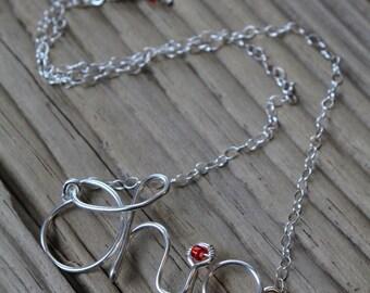 Sterling Medium SCRIPT OHIO Necklace, Script Ohio Jewelry, Ohio State Necklace, Unique Ohio State Jewelry, Ohio State Buckeyes necklace