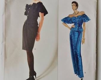 Vintage Vogue American Designer Albert Nipon sewing pattern 2409 - Misses' petite top and skirt - size 12-14-16