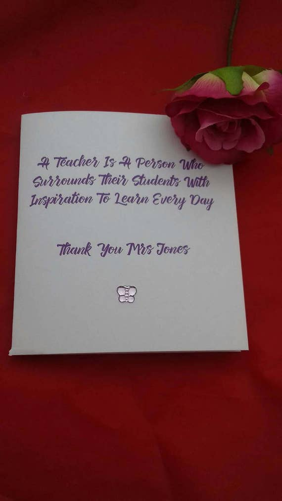 Personalised thank you card for teachers teaching cards m4hsunfo