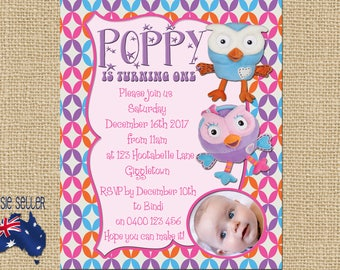 Printable Giggle and Hoot Invitation Hootabelle Party