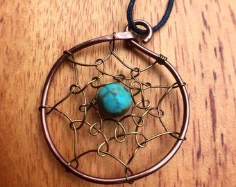 Dream catcher necklace