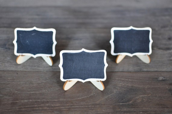5 Pk Mini Chalkboard Easel Place Cards Table Numbers