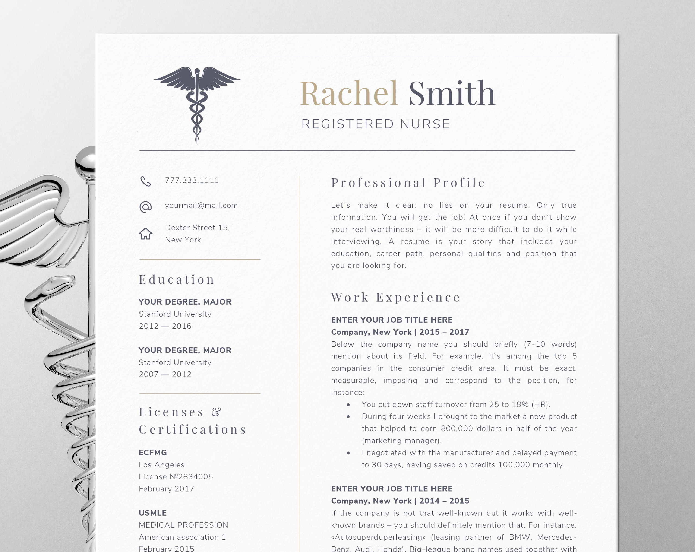 Pflege Lebenslauf Vorlage für Word Krankenschwester