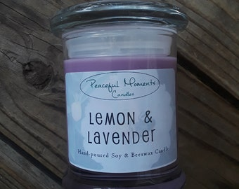 Lemon & Lavender- Soy and Beeswax Candle