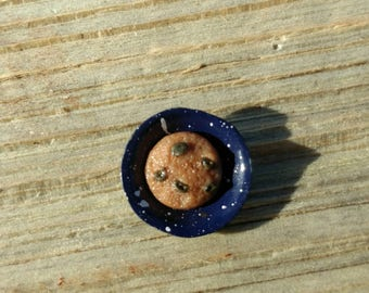 Chocolate Chip Cookie polymer clay dollhouse food