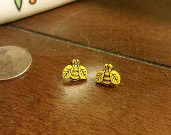 Mini Bumblebee Stud Earrings