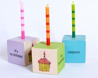 Birthday Block Candle - Cupcake   Kids Birthday   Kids Party Decor   Birthday Candle Keepsake
