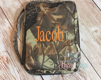 Monogrammed Camoflouge Bible Cover, Personalized Camo Bible Case