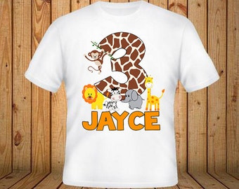 Animal Safari Birthday Shirt