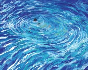 Original Painting - Night Swim Too