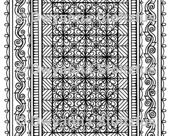 Tangled Treasures #3 Coloring Page JPG (Stress Relief Pattern)