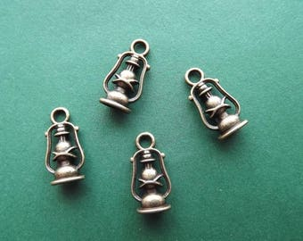 10 charms lanterns bronze colored metal 3D