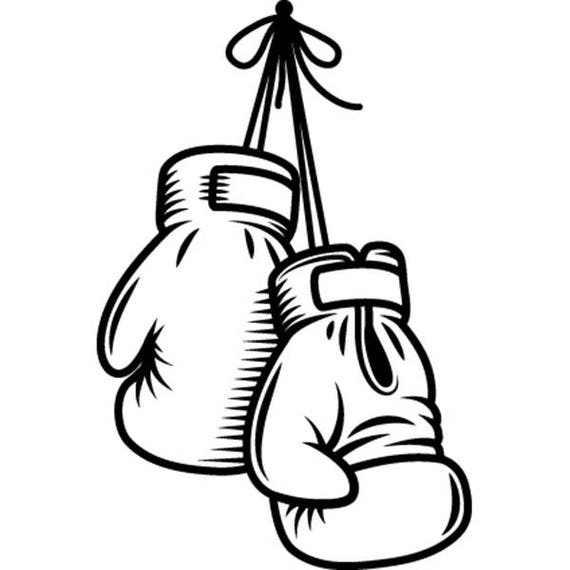 boxing gloves 1 fight fighting mma mixed martial art boxer rh etsy com boxing glove clipart outline free clipart boxing gloves