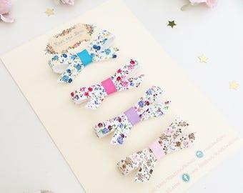 Ditsy Floral Print Tue Bow - Floral Bow Headband - FloralBow Clip - Baby Headband - Hair accessory