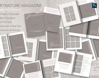 Portraiture Magazine Template - PSD CS6up and IDCS4up