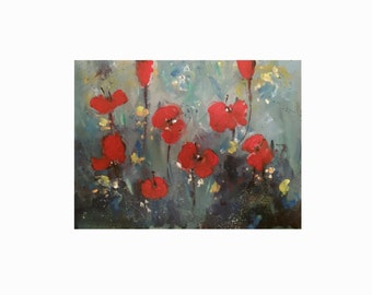 poppy painting abstract