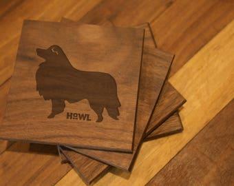 Shetland Sheepdog Coaster Set