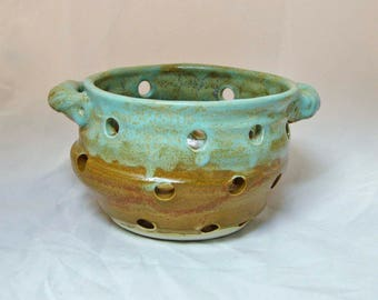 Ceramic Berry Bowl  Pottery strainer bowl  Colander Bowl Great Mothers Day Gift