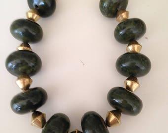 Beautiful jade statement necklace