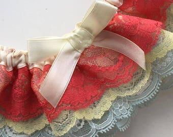 Rainbow Lace Wedding Garter