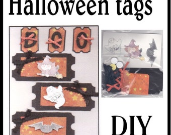 CLEARANCE SALE * Scrapbook Page Halloween Scrapbook Paper Layout kit Scrapbooking  Embellishment 3d Boo tags ticket Scrapbook Paper Piecing
