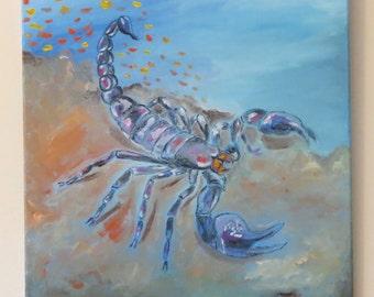 Scorpion Original Painting- Artwork 16x20 Insect