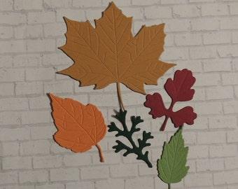 Fall Leaves Die Cuts, Leaf Die Cuts