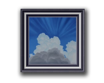 Cloud with sun rays