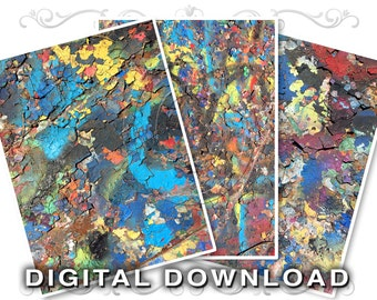 Peeling Paint Clip Art Stock Photos | Chipped Cracked Bright Graffiti | Textured Shabby Scrapbook Backgrounds | Commercial Use | Paint02