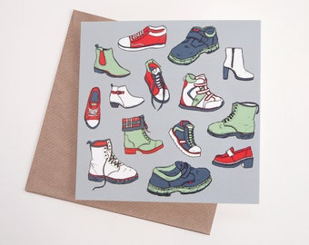 Shoes Art Greeting Card | Any Occasion | Blank Inside