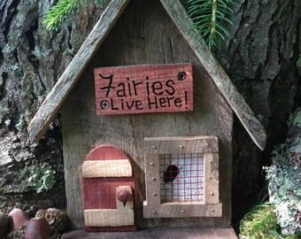 Chalet Fairy Door,Fantasy Fairy,Tooth Fairy,Rustic Fairy Door,Fairy Garden Door,Wooden Fairy Door,Gnome,Miniature Fairy Door,Whimsical Decor