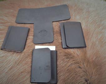 Handmade Minimalist Leather Tri-Fold Wallet