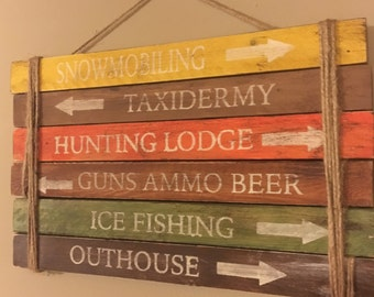Hunters Man Cave Signs : Hunting man cave etsy