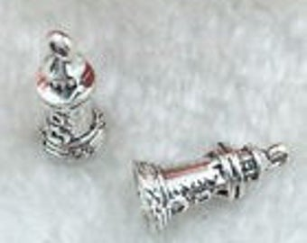 Silver Charms Lighthouse Tower x8