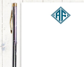 personalized notePAD - DIAMOND MONOGRAM - stationery - stationary - monogrammed notepad - choose color