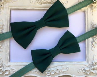 SET of 2 elegant Green Butterfly, father and son bow