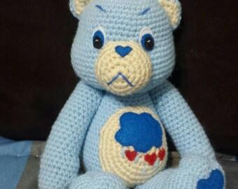 Grumpy bear amigurumi doll