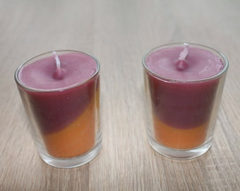 Candles in a glass (set of 2), wind light, lanterns, light glass, candle